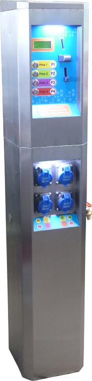 Borne de paiement distribution d'électricité PREMINOX libre service