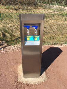 Installation M-Innov d'une borne eau sur le camping de Plainfaing