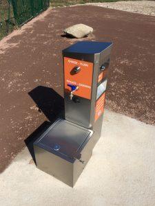 Installation M-Innov d'une borne vidange sur le camping de Plainfaing
