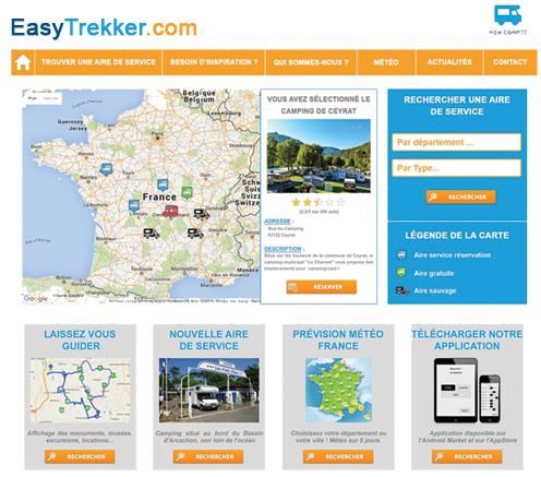Site internet du EasyTrekker
